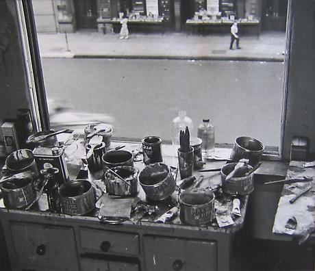 RUDY BURCKHARDT De Kooning Studio I 1950 gelatin-silver print
