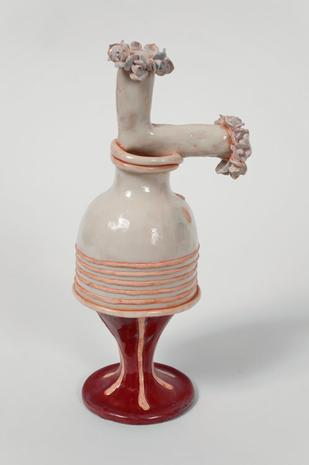 Blushing 1994 porcelain,earthenware, and glaze 8 1/4 x 4 1/4 x 3 inches