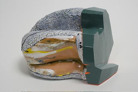 Kathy Butterly Whale Burger 2008 clay, glaze and paint 6 x 9 1/2 x 7 3/4 inches private collection