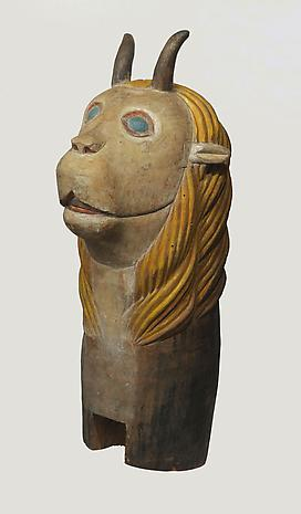Artist Unknown Carranca nd painted wood carving 37 x 15 x 24 inches SOLD