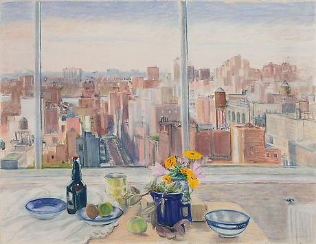 Crosstown View 1978 pastel on paper 38 ¼ x 50 inches Private Collection