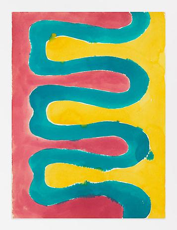 Paul Feeley Untitled 1958-59 watercolor on paper 16 x 11 inches