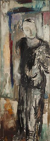 Frank O'Hara 1951 oil on linen 65 x 23 inches Private Collection