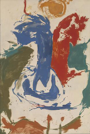 Helen Frankenthaler Two Live as One on a Crocodile Isle 1959 oil on unsized, unprimed canvas 82 x 55 inches