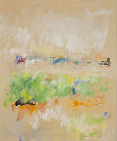 Abstract Landscape 1963 watercolor on paper 16 5/8 x 13 5/8 inches
