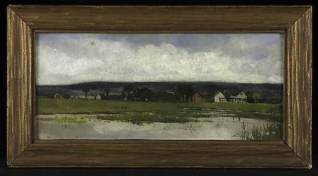 George Hutchinson Untitled nd oil on masonite 4 3/16 x 9 11/16 inches SOLD