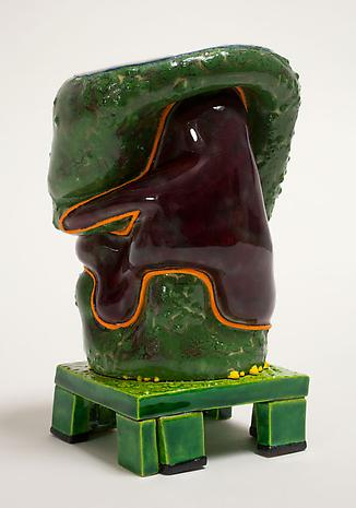 Kathy Butterly Green Electric 2012 clay, glaze 5 3/8 x 3 1/2 x 5 3/8 inches