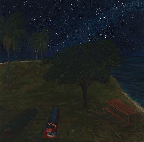 Boca Chita Key, FLA 2011 egg tempera on wood 24 x 24 inches