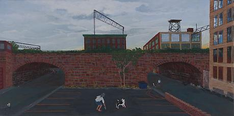 Carlton and Wood 2010 acrylic on canvas 24 x 48 inches