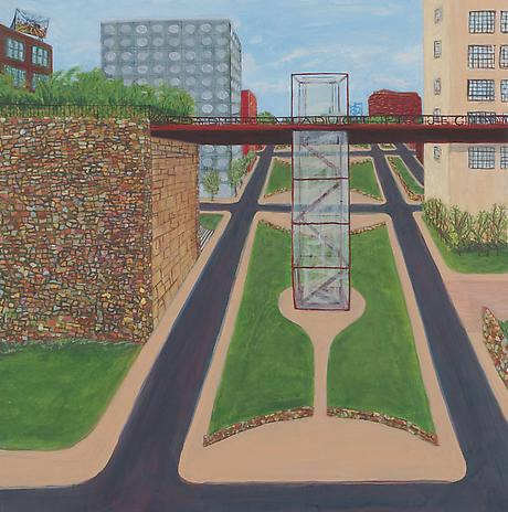 Future Vine Street 2010 acrylic on canvas 24 x 24 inches