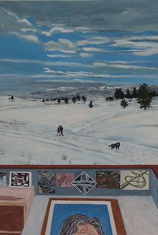 Helena, MT 2011 egg tempera on wood 36 x 24 inches