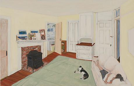 North Truro Studio 2010 egg tempera on wood 13 x 20 1/4 inches SOLD