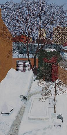 Winter Wildlife 2010 acrylic on canvas 48 x 24 inches