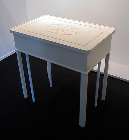 ROY McMAKIN A Painted Entry Hall Table 2013 enamel paint on maple, steel 31 ½ x 20 x 34 inches