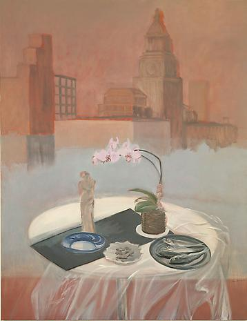 Parts of a World 1987 oil on linen 68 ½ x 53 inches NFS