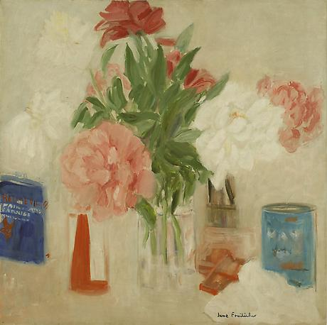 Peonies 1965 oil on canvas 24 x 24 inches Private Collection