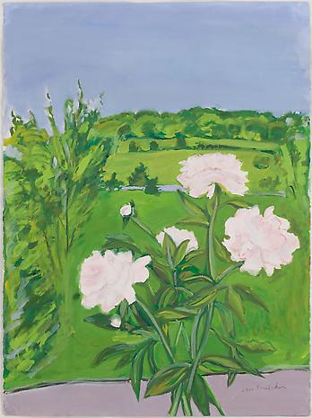 Peonies 1989 oil on paper 30 x 22 ¼ inches