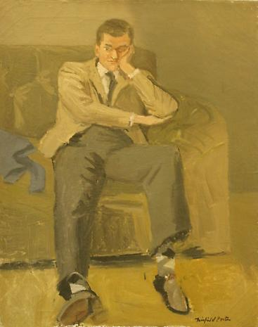 Fairfield Porter John Ashbery c.1952 oil on canvas 32 x 25 inches