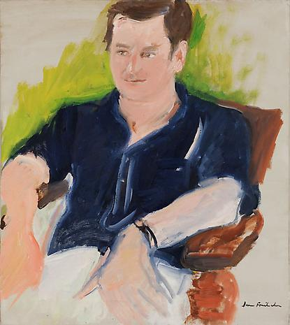 Portrait of John Ashbery c. 1968 oil on canvas 20 ¼ x 18 inches Private Collection