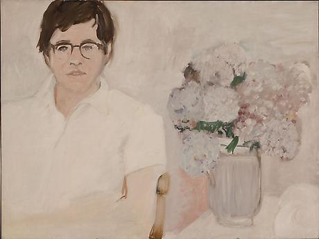 Portrait of Kenneth Koch c.1966 oil on linen 30 x 40 inches Private Collection