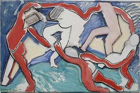Art and the Artist: Matisse's La Danse 'Energy' 1993 oil on canvas mounted on sculpted foamboard 45 x 67 1/2 x 2 3/4 inches SOLD