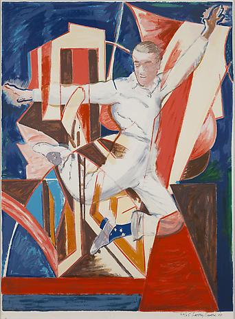 Astaire in the Air 1990 silkscreen and brushwork 55 x 40 inches Edition 22/65