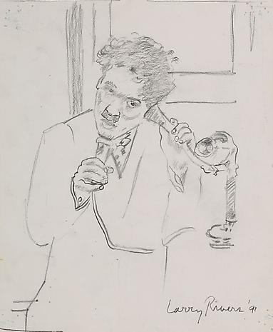 Sketch for Early Chaplin 1991 pencil on paper 11 1/4 x 9 1/4 inches