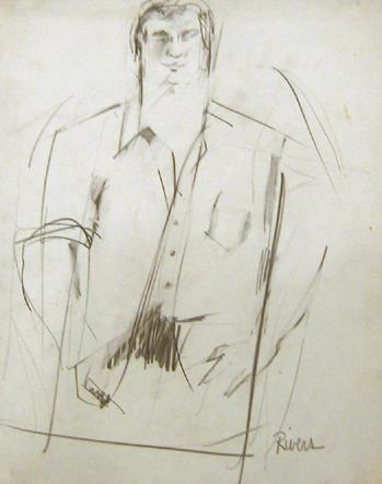LARRY RIVERS Untitled V (Jack Kerouac) 1960 pencil on paper 14 x 11 inches