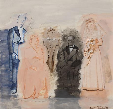 Wedding Photo (Color Coded) 1979 acrylic on panel mounted on canvas 29 x 29 1/2 inches