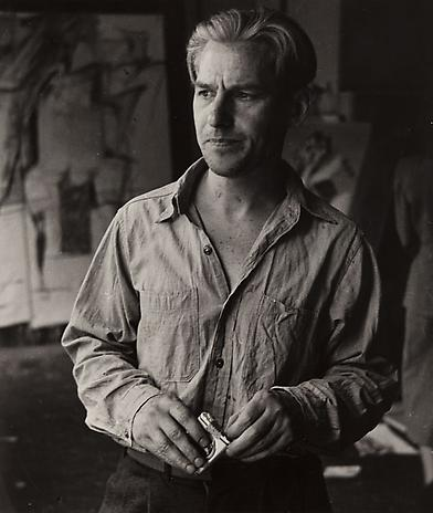 Willem de Kooning (with cigarettes) 1950 gelatin silver print 8 x 6 inches