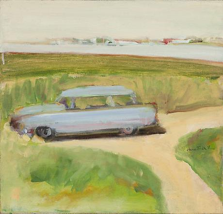 The Car 1963 oil on linen 18 x 19 inches Private Collection