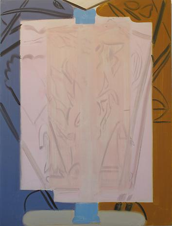 Glass Clock 2012 oil on canvas 66 x 50 inches