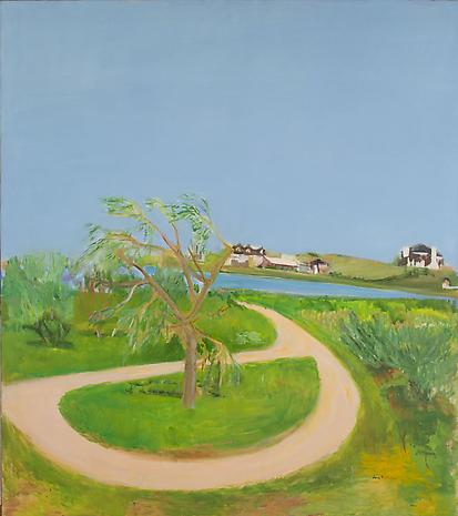 Turnaround 1965 oil on canvas 68 x 60 inches