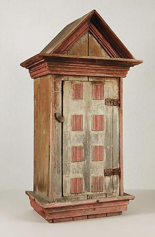 Artist Unknown Votive Cabinet nd wood 30 x 15 3/4 x 10 1/2 inches SOLD
