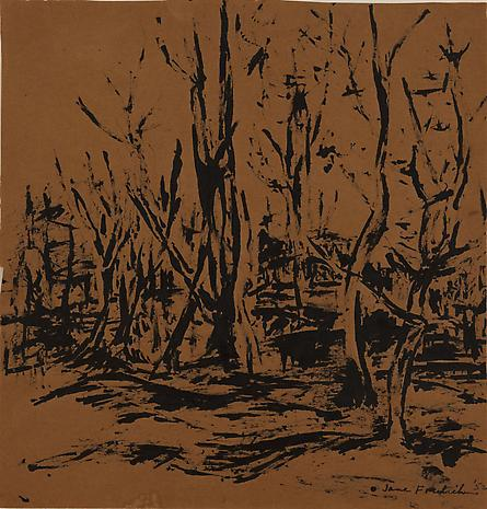 Untitled (Landscape) 1953 brush and ink on paper 11 x 10 ½ inches
