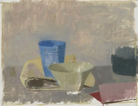 Still Life I 2013 oil on gessoed paper 8 1/2 x 8 7/8 inches