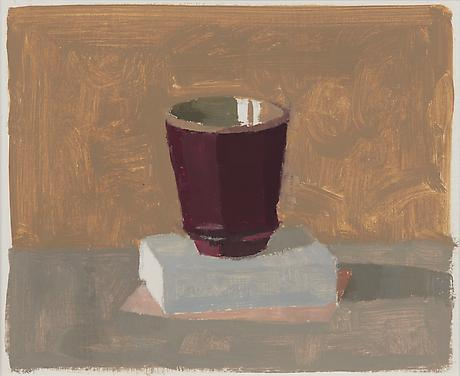 Red Cup I 2012 oil on gessoed paper 7 1/2 x 9 1/4 inches