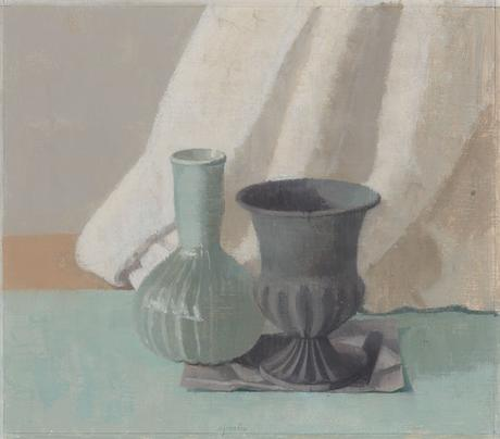 Two Vases II 2015 oil on gessoed paper 9 3/4 x 11 1/8 inches