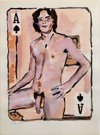 Walter Robinson Ace of Spades 1995 acrylic on linen 11 x 8 inches