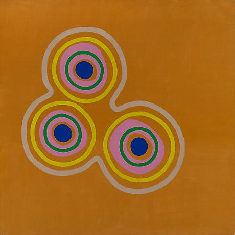 Edward Avedisian Normal Love #1 1963 Liquitex on canvas 67 1/4 x 67 1/2 inches
