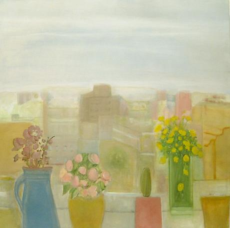 Window 2011 oil on linen 32 x 32 inches