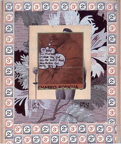 JOE BRAINARD and FRANK O'HARA I Grew This Mustache... 1964 collage and ink on paper 12 x 9 3/4 inches Collection Bill Berkson and Connie Lewallen, San Francisco