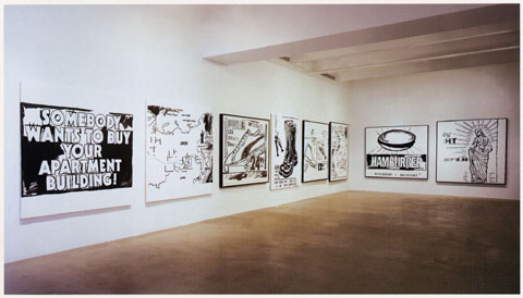 ANDY WARHOL Black & White Paintings 1985-86