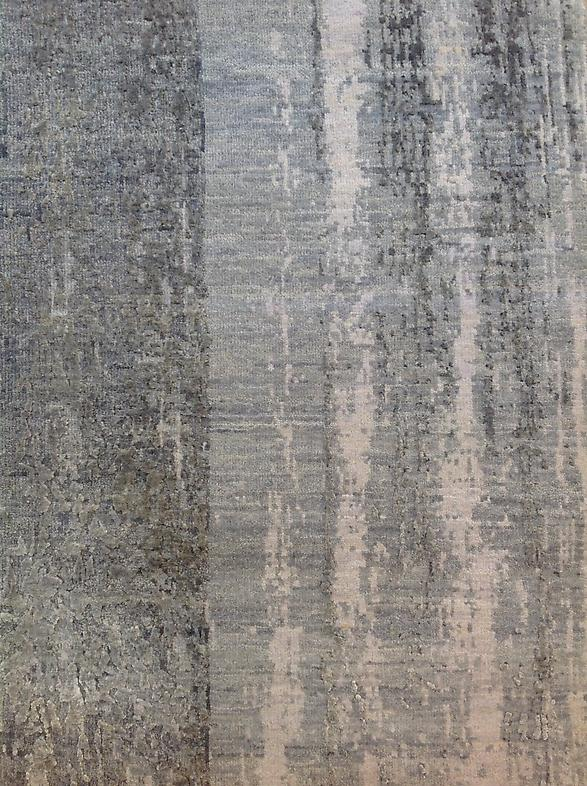Wool and silk, hand-woven Available in 9' x 12' and 12' x 15' Made to custom sizes and colors #2